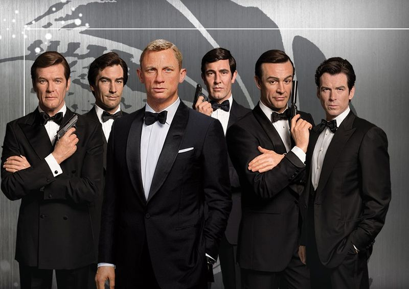 A group of six James Bond figures will be moving into Madame Tussauds Orlando on Oct. 5.