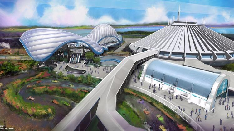 D23 renderings of new attractions at Disney World