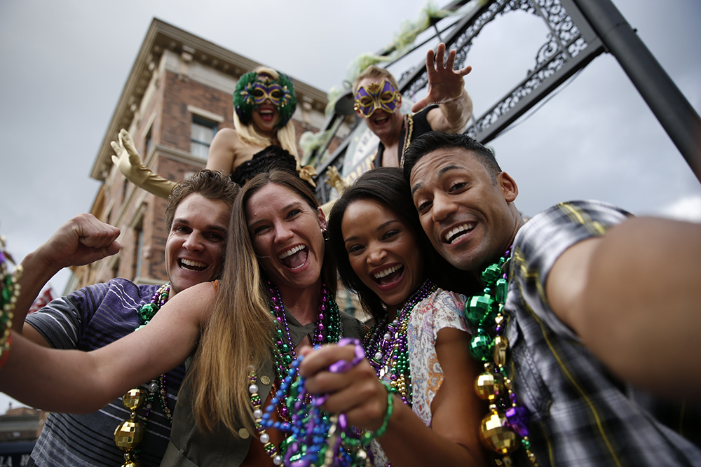Mardi Gras 2015 Party Goers