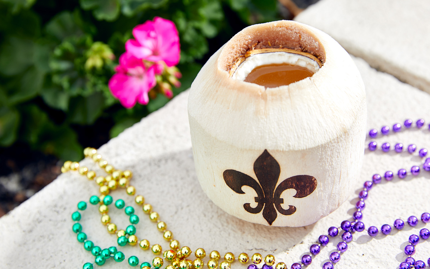 Coconut Water in a Coconut at Universal's Mardi Gras