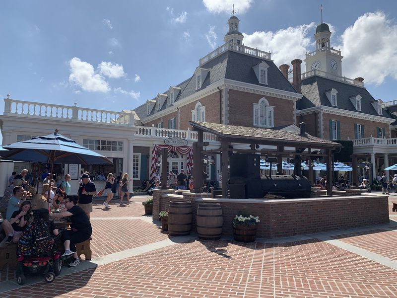 Regal Eagle Smokehouse, a barbecue restaurant, is now open for business at Epcot. The eatery is located in the American Adventure pavilion.