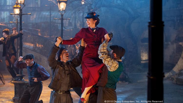 Emily Blunt is Mary Poppins in Disney's original musical Mary Poppins Returns, a sequel to the 1964 Mary Poppins.